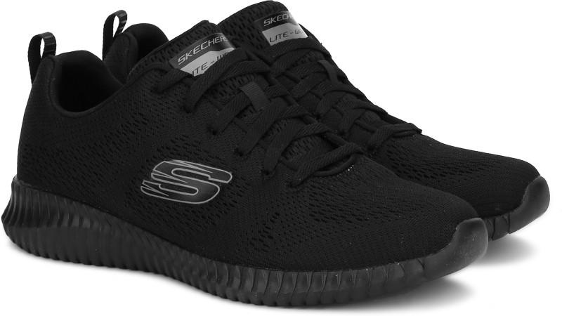 Skechers Elite Flex Running Shoes For Men(Black)