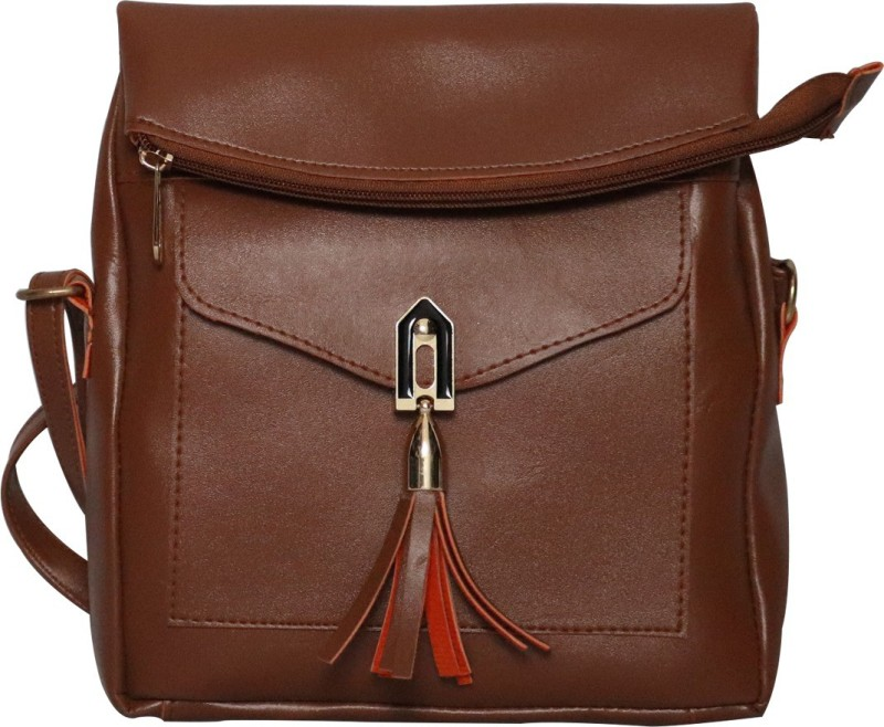 zuriac Brown Sling Bag