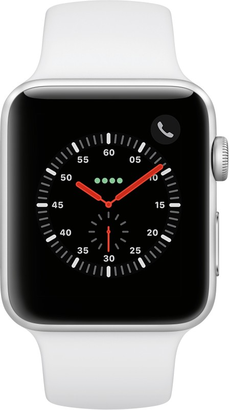 Apple Watch Series 3 GPS + Cellular 42 mm Aluminium Case(White Strap Regular)