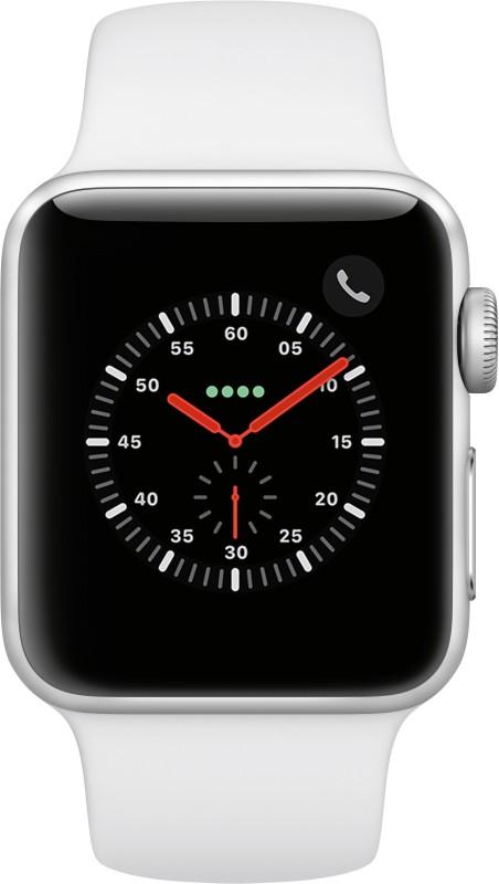 Apple Watch Series 3 GPS + Cellular 38 mm Aluminium Case(White Strap Regular)