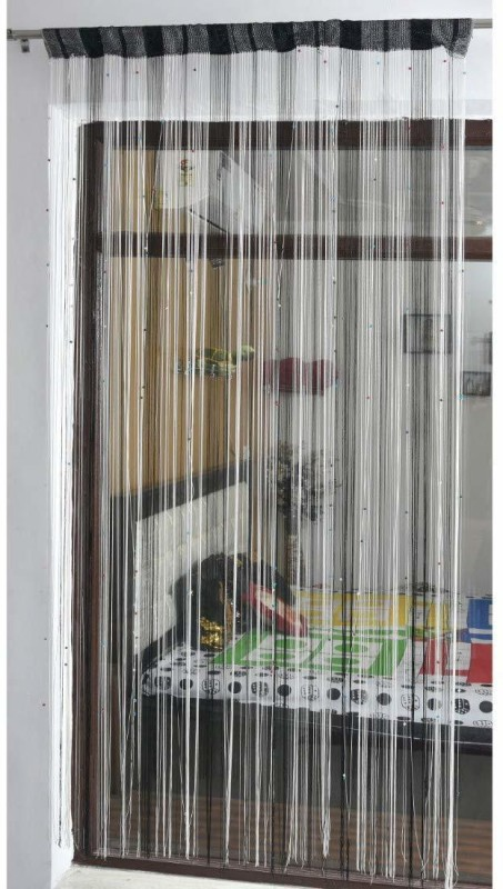 check MRP of striped curtains black and white curtain