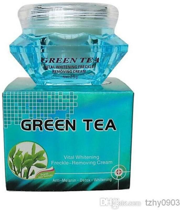 FEIQUE GREEN TEA VITAL WHITENING FRECKLE-REMOVING CREAM.(25 g)