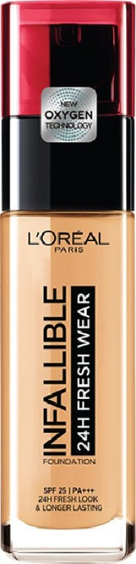 L'Oreal Paris Infallible 24H Fresh Wear Foundation(140 Golden Beige, 30 ml)