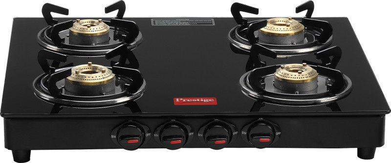 Prestige Marvel Glass Manual Gas Stove(4 Burners)