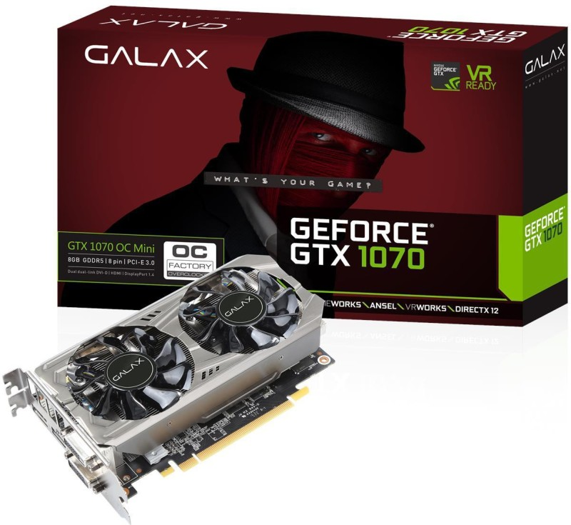 Galax AMD/ATI GTX 1070 OC 8 GB GDDR5 Graphics Card