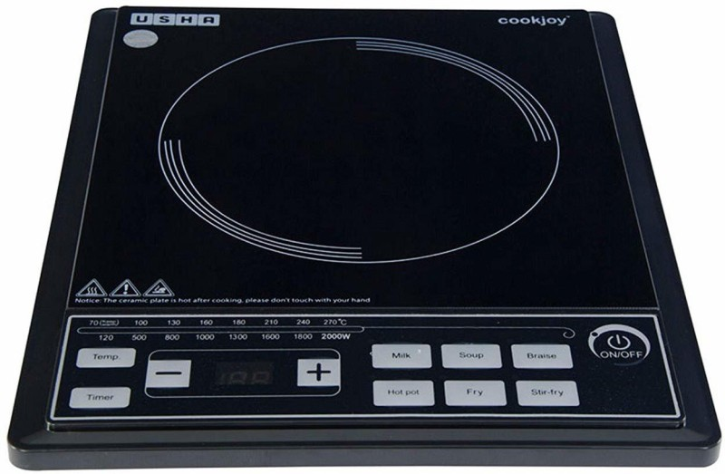 Usha 2102 Induction Cooktop(Black, Push Button)