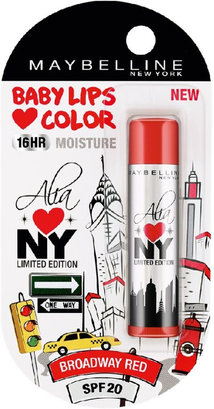 Maybelline New York Alia Loves NY Lip Balm Broadway Red(Pack of: 1, 4 g)