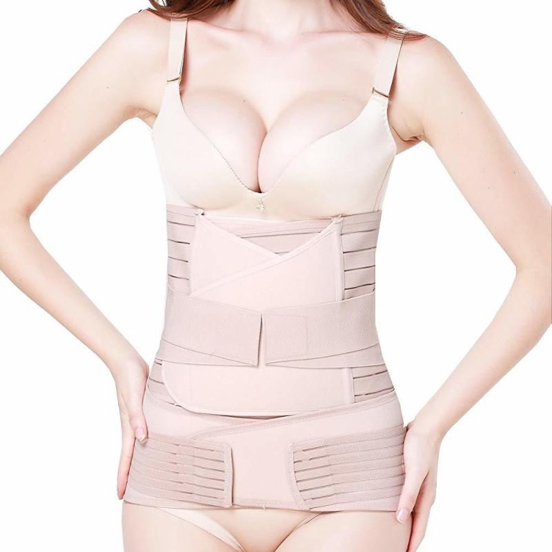 "Baby Bucket Corset Belt (Set of 3) | Slimming | Waist Trimming | Postpartum Abdomen Shaper Belt | Strap Breathable (Size -XL 33""-38"" Inches)(LPINK)"