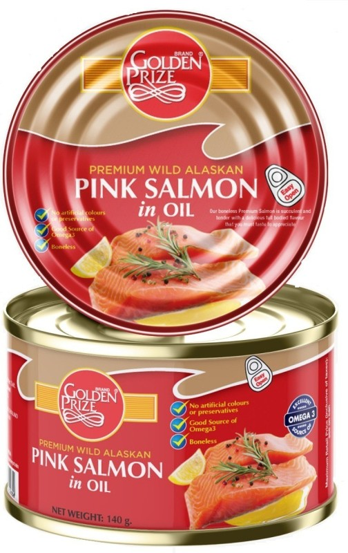 Golden Prize Pink Salmon in Oil, 140gm Sea Foods(140 g)