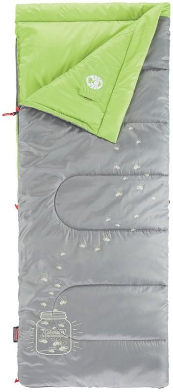 Coleman Youth Glow-in-Dark Sleeping Bag Extreme: -10°C, Limit: +3°C Sleeping Bag(Grey)