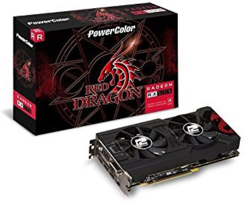 PowerColor AMD/ATI Red Dragon Radeon RX 570 4GB - AXRX 570 4GBD5-3DHD/OC 4 GB GDDR5 Graphics Card