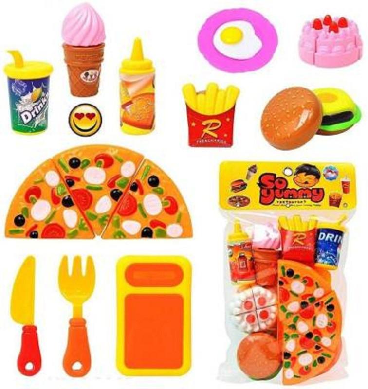 Shreeji Enterprise Fast Food Lunch Play Pizza Set Toy For Kids