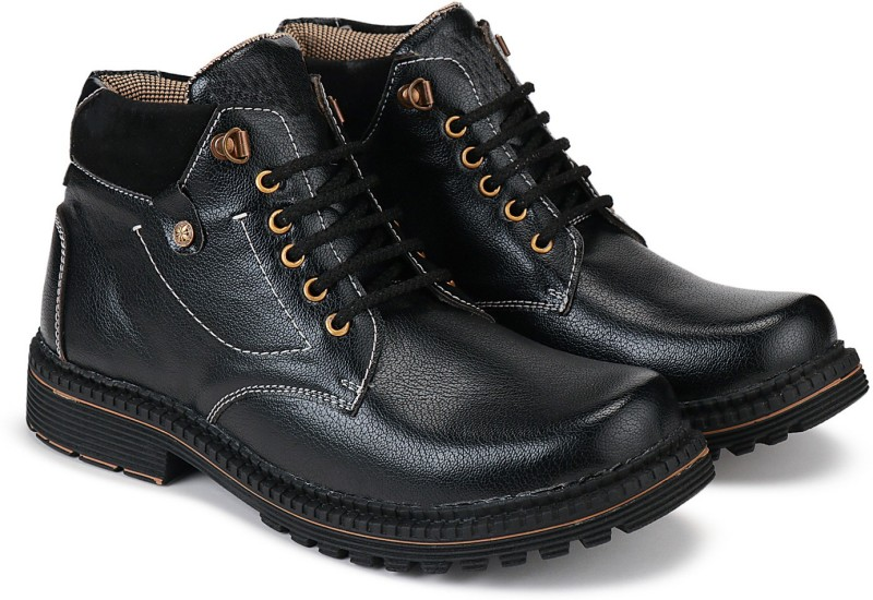 Bersache Party Casual Shoes, Outdoor Boots ,Best Rates, Canvas Shoes,Sneakers Shoes , Loafers Shoes, Trendy Shoes, Trekking Shoes, Sports Shoes ,Top Rated, Best Rates,Light Weight, Juta, Walking Shoes, Rain Shoes, Slip On, Suj, Waterproof, Rainy Shoes, Comfortable For Men'S/Boy'S (Black-3033) Boots