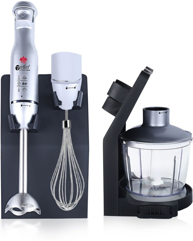 BMS Lifestyle 800W 4-in-1 Hand Blender,Powerful Immersion Blender,500ml 800 W Hand Blender(Silver)
