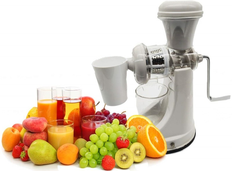 Mantavya Fruit And Vegetable Mixer Juicer Plastic Hand Juicer(White Pack of 1)