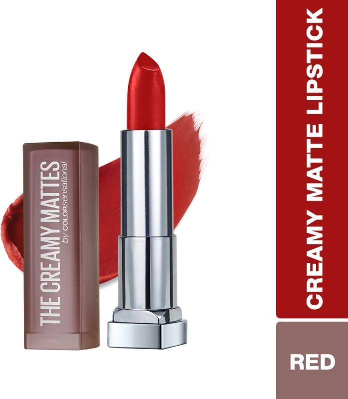 Maybelline New York Color Sensational Creamy Matte Lipstick(634 Bold Crimson, 3.9 g)