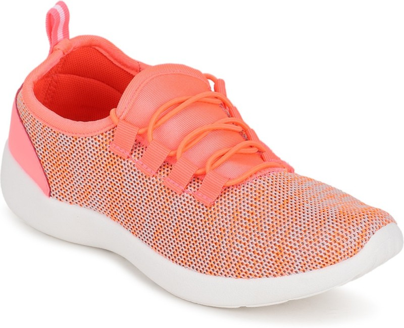 People People Orange Lace Up Shoes Running Shoes For Women(Orange)