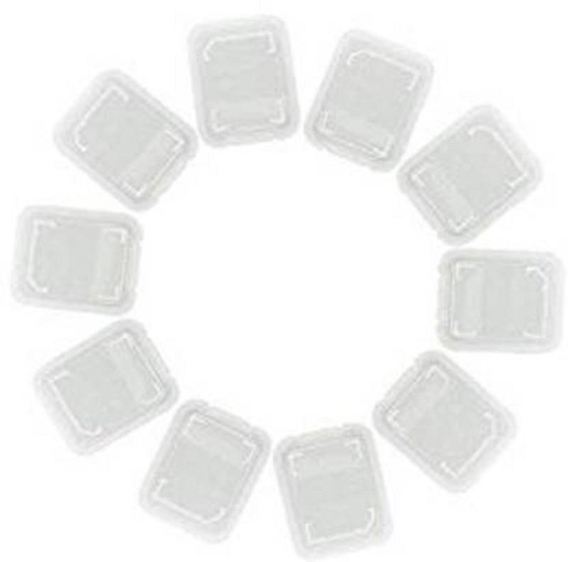 Priyam 10pcs Micro SD Memory Cards case storage Storage Box(White)