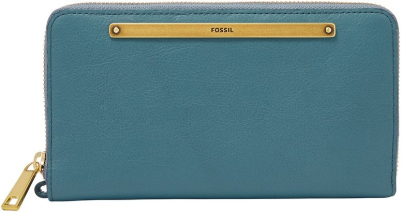 Fossil Women Blue Genuine Leather Wallet(13 Card Slots)