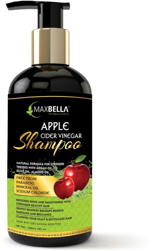 MaxBella Apple Cider Vinegar & Argan Oil Anti-dandruff and Hair fall Control,Free from Paraben & Mineral Oil, for Men and Women Hair Shampoo(300 ml)