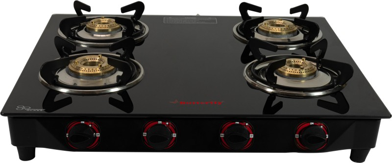Butterfly Rapid Glass Manual Gas Stove(4 Burners)