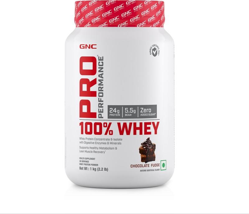 GNC Pro Performance 100% Whey Whey Protein(1 kg, Chocolate Fudge)