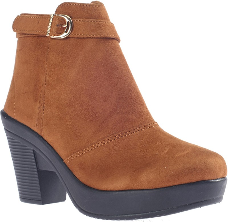 Khadim's Cleo Dress Boots Boots For Women(Tan)