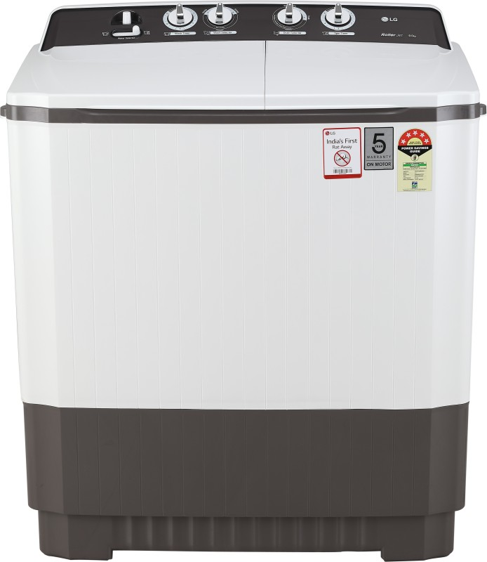 LG 9 kg 5 Star Rating Semi Automatic Top Load Grey, White(P9040RGAZ)