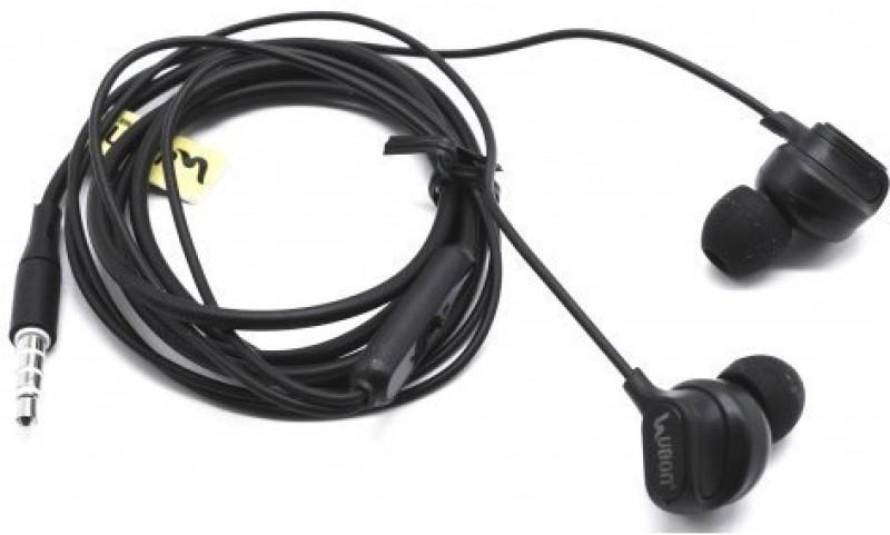 Ubon UB-669 Universal Wired Headset(Black, Wireless in the ear)