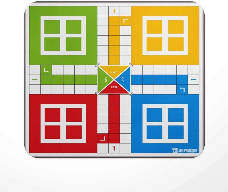 Jbn Premium Ludo Board   Premium Gaming Mousepad   Anti-Slip Rubber Base Mousepad(Multicolor)