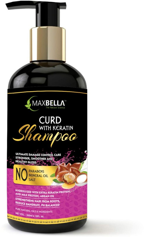 MaxBella Curd With Keratin Protein for Anti-Breakage, Hair Growth & Damage Control,Free from Paraben & Mineral Oil, for Men and Women Hair Shampoo(300 ml)