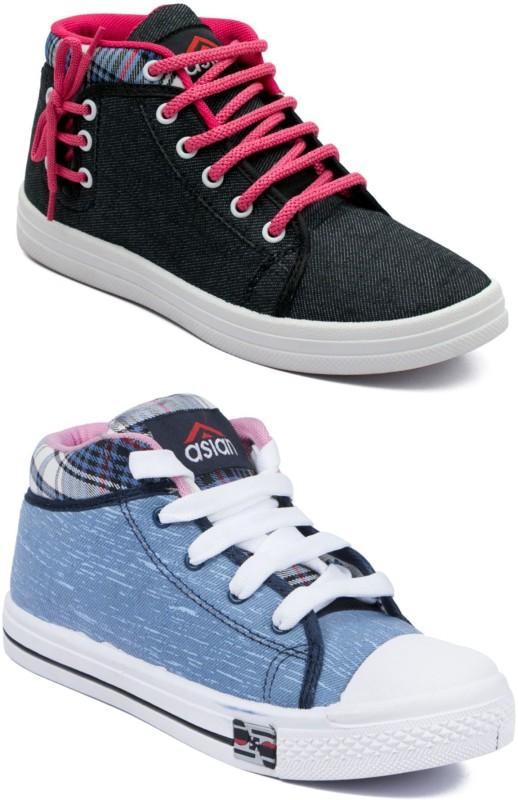 Asian Casual shoes,Running shoes,Walking shoes,Loafers,Sneakers,Traning shoes,Gym shoes. Sneakers For Women(Blue, Black)
