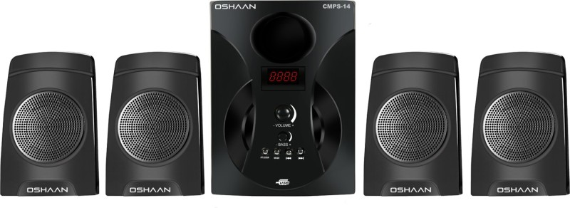 Oshaan S14 4.1 BT 38 W Bluetooth Home Theatre(Black, 4.1 Channel)