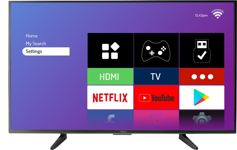 Impex 108cm (43 inch) Full HD LED Smart Android TV(Fiesta 43 Smart)