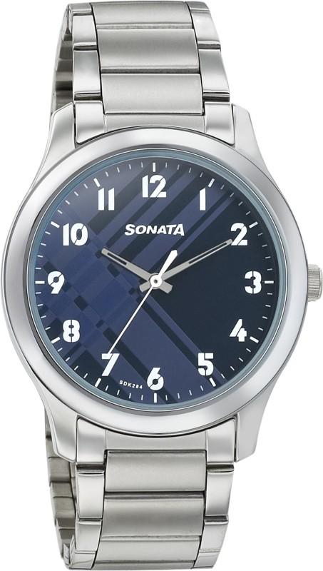 Sonata 77106SM02 Analog Watch - For Men