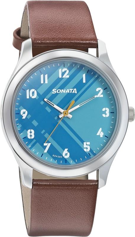 Sonata 77106SL03 Analog Watch - For Men