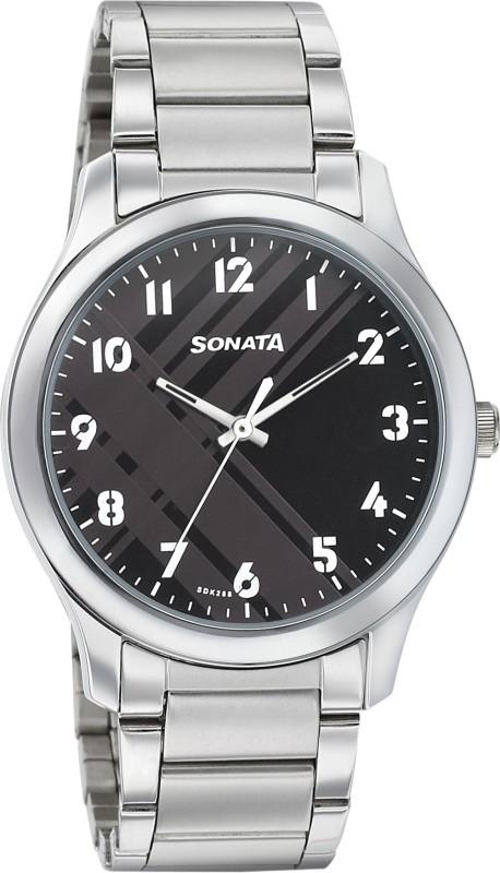 Sonata 77106SM03 Analog Watch - For Men