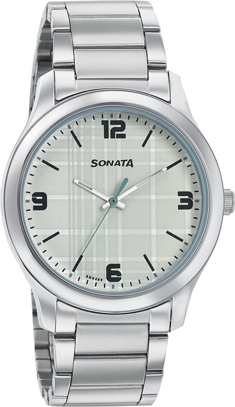 Sonata 77106SM01 Analog Watch - For Men