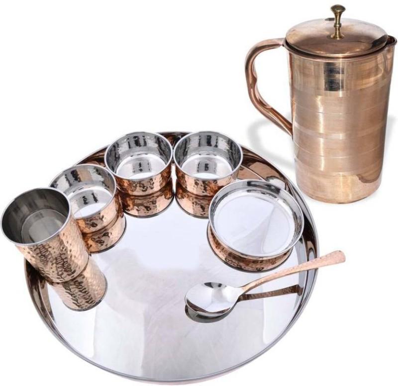 MegaKraft Copper Dinner Set Dinner Set(Copper, Stainless Steel)