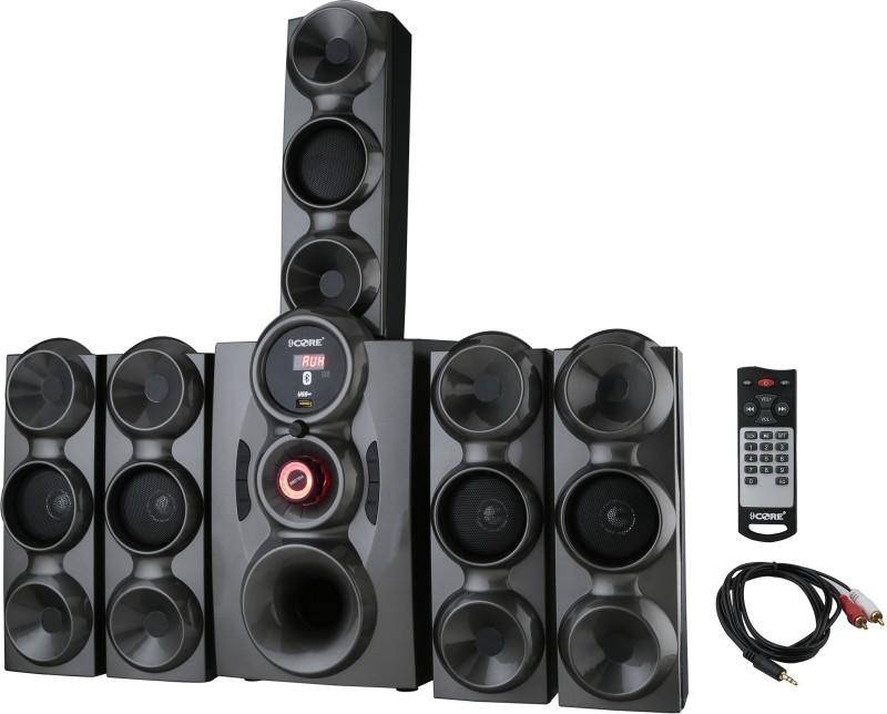 9 CORE HT-BT-1011 BASS SOUND KA BAAP 9 W Bluetooth Home Theatre(GREY/SILVER, 5.1 Channel)