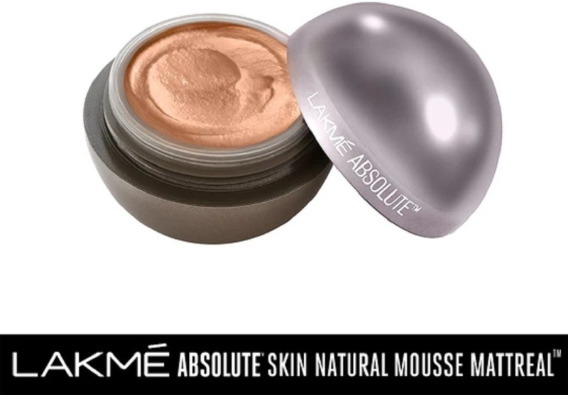 Lakme Mattreal Skin Natural Mousse-Medium Caramel Foundation(Medium Caramel, 25 g)