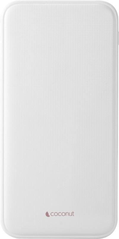 coconut 10000 mAh Power Bank (PB04, PB04)(White, Lithium Polymer)