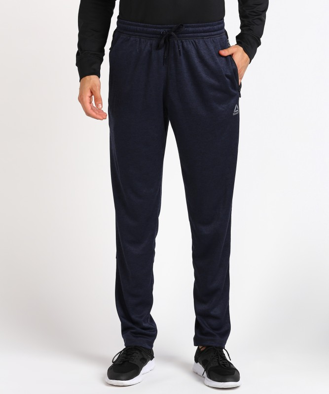 REEBOK Self Design Men Blue Track Pants