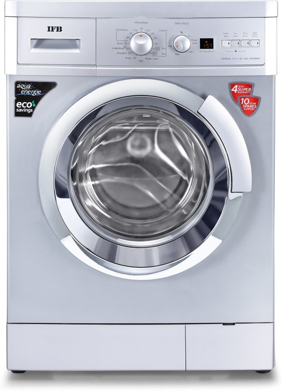 IFB 7 kg 2D Wash, Self Diagnosis Fully Automatic Front Load with In-built Heater Silver(Serena Aqua Sx LDT)