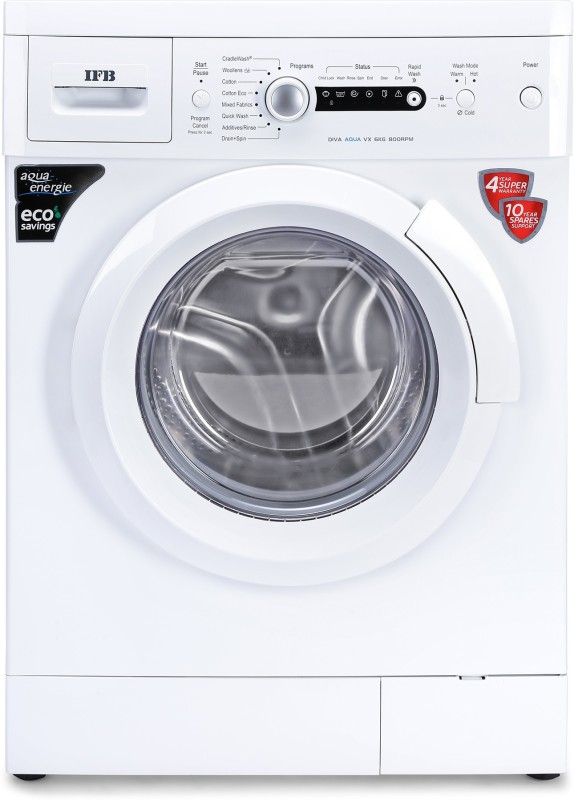 IFB 6 kg 2D Wash Fully Automatic Front Load with In-built Heater White(Diva Aqua VX)