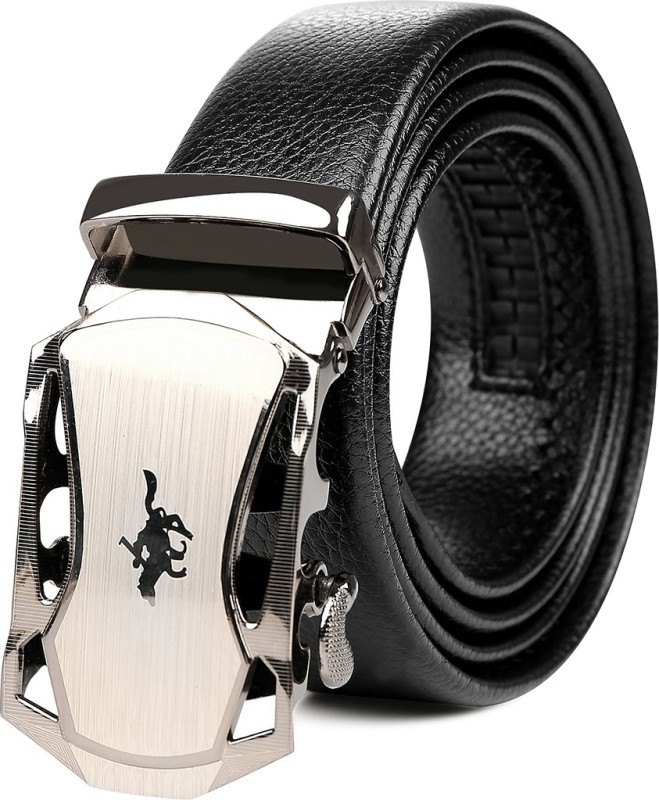 Edifier Men Evening, Party, Formal, Casual Black Genuine Leather Belt