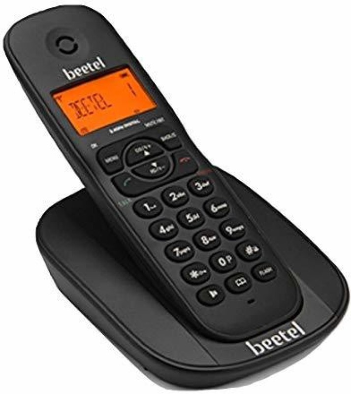 Beetel X73 Cordless Landline Phone(Black)