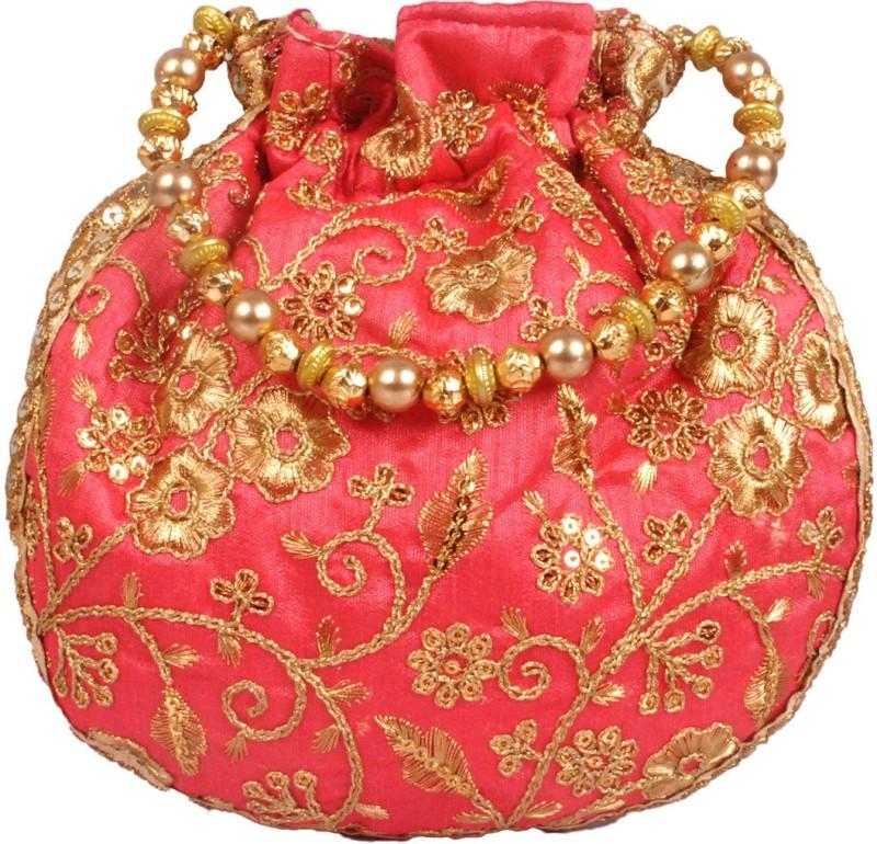 Your Pretty Closet Ethnic Rajasthani Potli Bag Potli(Pink)