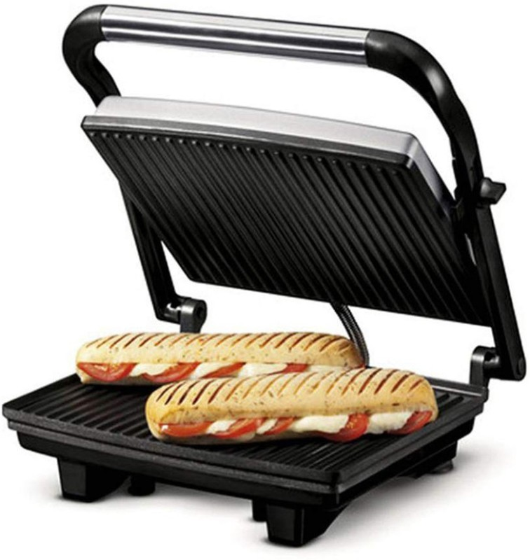 Nova 2 Slice Panini Grill Sandwich Press Grill, Toast(Grey)