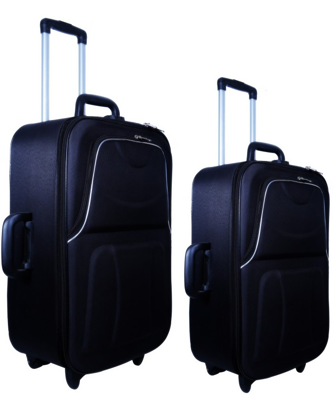 Nuremberg Suitcase Trolley /Travel/ Tourist Bag Check-in Luggage - 24 inch(Black)